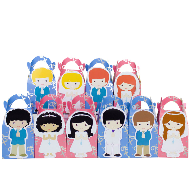 My First Communion Favor Box Candy Box Gift Box Cupcake Box Boy Kids Birthday Party Supplies Decoration Event Party Supplies