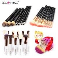 BLUEFRAG Buy 3 get 1 dom conjunto de Pincéis de Maquiagem Fundação Escovas de pó Make up Tools Escova Da Sombra Delineador Lip Concha conjunto