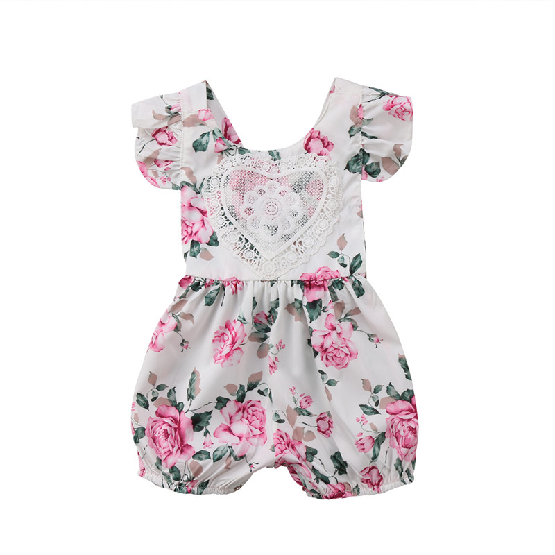 5aec80579 Lace Denim Kids Baby Girl Off Shoulder Romper Jumpsuit Outfits Clothes  Summer US Girls' Clothing ...