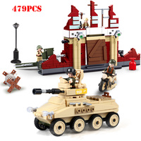 World War 2 Soviet Stalingrad Defend Building Blocks Compatible Legoing Military Tank Vehicle WW2 Figures Bricks Toys For Child