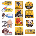 Hot Sale Cute Cartoon Car Stickers Baby In Car Pattern Reflective Vinyl Warming Sticker Car Tail Warning Mark Stickers ME3L