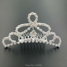 9.5CM*4.8CM 4PCS/lot Bridal Hair Comb Claw Tiaras Alloy & Glass Rhinestone Jewelry Hairwear