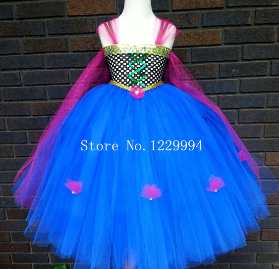 Frozen Costumes Tutu Anna Dress For Girls Birthday Party Photo Prop Turquoise Winter Clothing Cosplay In Anime From Novelty