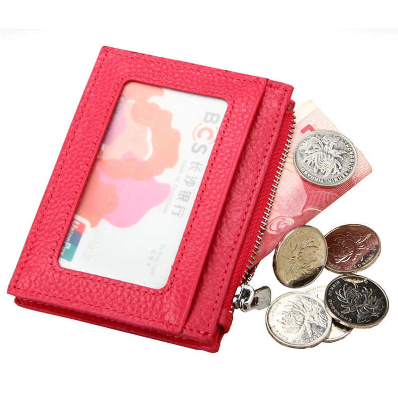 Fashion Cowhide Card Holder for Men Women Genuine Leather Credit Cards Wallets Zipper Coin Purse Multifunction RFID Porte Carte