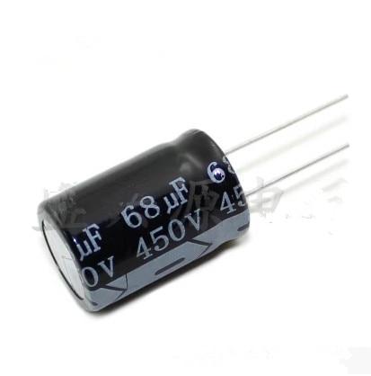 450V 68UF  68UF 450V Electrolytic Capacitor  Volume 18X25 18X30 Best Quality New Origina