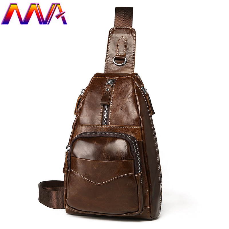 MVA Best quality men leather chest bag of cowhide leather men`s chest bag for fashion women chest bag men shoulder bagsMVA Best quality men leather chest bag of cowhide leather men`s chest bag for fashion women chest bag men shoulder bags