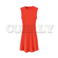 CUERLY women sexy knitted mini dress O neck sleeveless solid strenchy female casual dresses summer vestidos