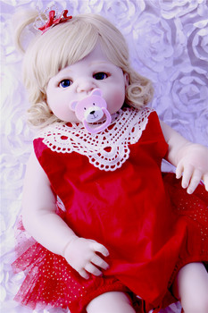 22inch Full Silicone Reborn Girl Baby Doll Toys Realistic real looking Newborn Princess Babies Doll Lovely Birthday presents