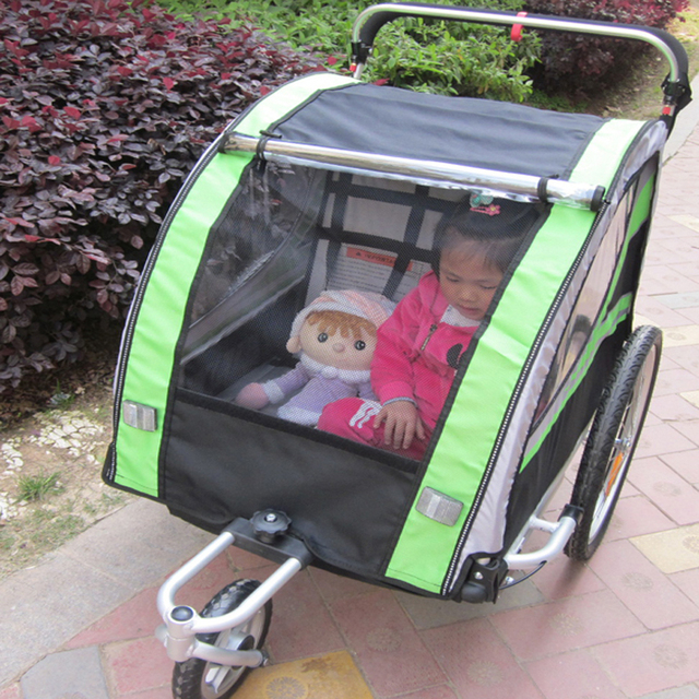 20 inch air Wheels and Aluminum Alloy Frame Jogger,for 2 kids use, 2 in 1 function