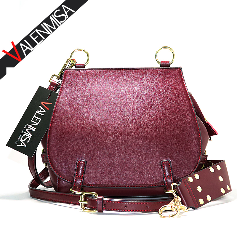 VALENMISA Genuine Leather Handbags Women Small Saddle Shoulder Bags For Women Crossbody Bags Designer Brand Ladies Messenger Bag перекладина треугольная yousteel длина 1800мм d32 32мм