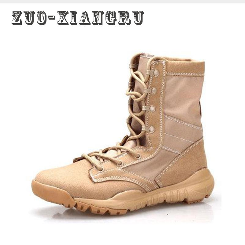 New Spring/autumn Men Quality Brand Military Leather Boots Special - Men's Shoes
