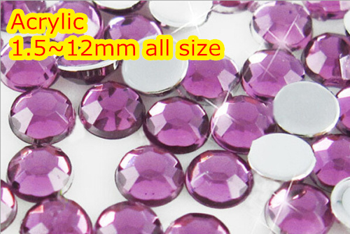 Lt.grape Color 1.5~12mm All size Choice Flat Back Round Acrylic rhinestone,Acrylic Resin 3D Nail Art / Garment Rhinestone blue zircon color 1 5 12mm flat back round acrylic rhinestone acrylic resin 3d nail art garment rhinestone