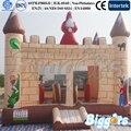 Castelo Bouncy inflável com Slide Pequeno Dentro para a Festa