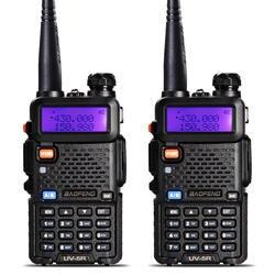 2 Шт. BaoFeng УФ-5R Рация VHF/UHF136-174Mhz & 400-520 МГц Dual Band Baofeng уф-5r Портативный Портативной рации uv5r радиостанция рации для охоты baofen