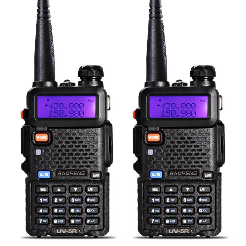 2 Pcs BaoFeng UV-5R Walkie Talkie VHF/UHF136-174Mhz & 400-520 Mhz Dual Band Two way radio Baofeng uv 5r Tragbare Walkie talkie uv5r