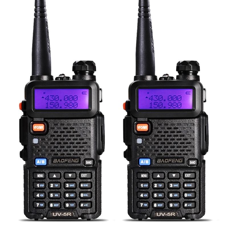 2 Unids BaoFeng UV-5R Walkie Talkie VHF/Uhf136-174mhz y 400-520 Mhz Dual Band radio de Dos vías Baofeng uv 5r Walkie talkie uv5r Portátil