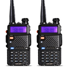 2 pièces BaoFeng UV-5R talkie-walkie VHF/UHF136-174Mhz et 400-520Mhz double bande bidirectionnelle radio Baofeng uv 5r Portable talkie-walkie uv5r(China)