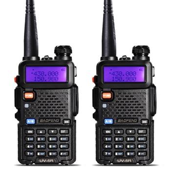 2Pcs BaoFeng UV-5R Walkie Talkie VHF/UHF136-174Mhz&400-520Mhz Dual Band Two way radio Baofeng uv 5r Portable Walkie talkie uv5r baofeng walkie talkie uv 5r 2pcs lot two way radio baofeng uv5r 128ch 5w vhf uhf 136 174mhz
