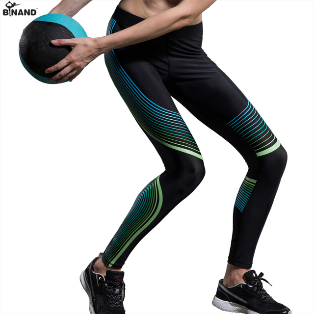 BINAND Womens Low Waist Power Compression Running Tight Speed Pants High-stretch Reflective Sportswear Yoga Jogging Leggings