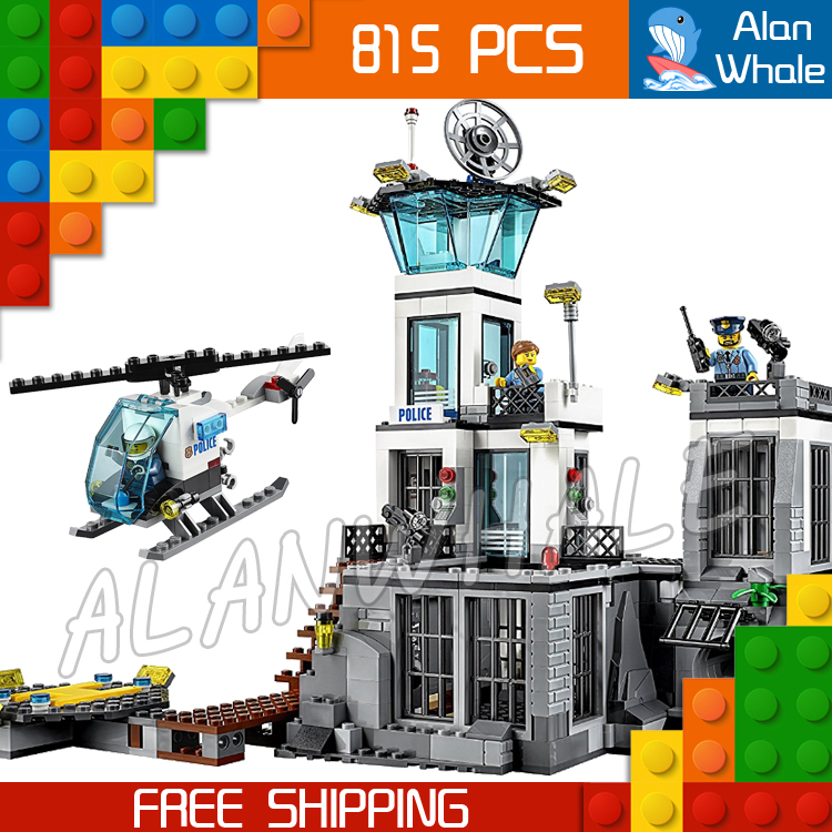 815pcs City Prison Island Helicopter 02006 Model Building Blocks Assemble Bricks Children Toys Construction Compatible With Lego lepin 02006 815pcs city police series the prison island set building blocks bricks educational toys for children gift legoings