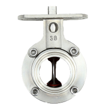Stainless steel 304 O.D19-108mm quick connection with bracket butterfly sanitary valve high platform clamp type butterfly valve new arrival 1 ss316l stainless steel sanitary manual water butterfly valve thread w plastic handle
