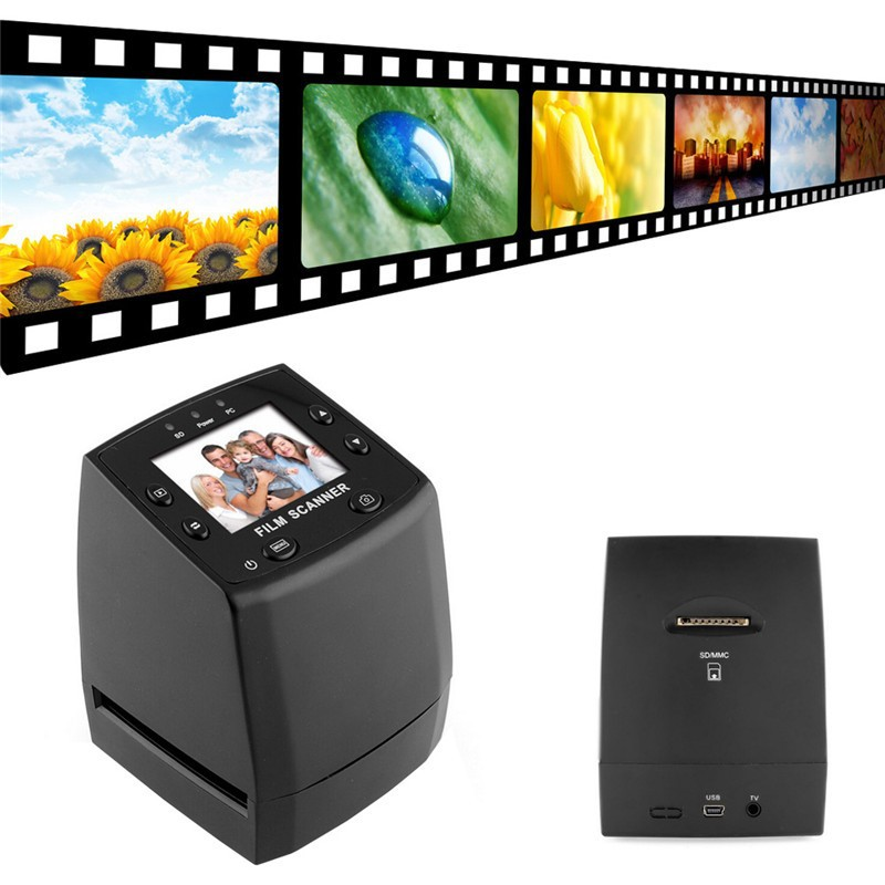 NEW 2.4 TFT LCD Negative Photo Scanner 35mm Slide Film Scanner Converter Convert your film into Digital JPG JPEG Format