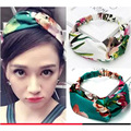[IDUOLELELE] 2017 Brand headband women silk girl's head wear flower hair accessories