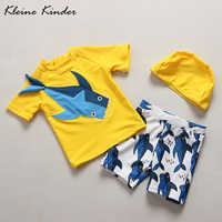 Baby Bademode 2018 Sommer 3D Shark Kleidung Baby Badeanzug Junge Separaten Jungen Badeanzug Sonnenschutz UPF50 + Kinder Beachwear