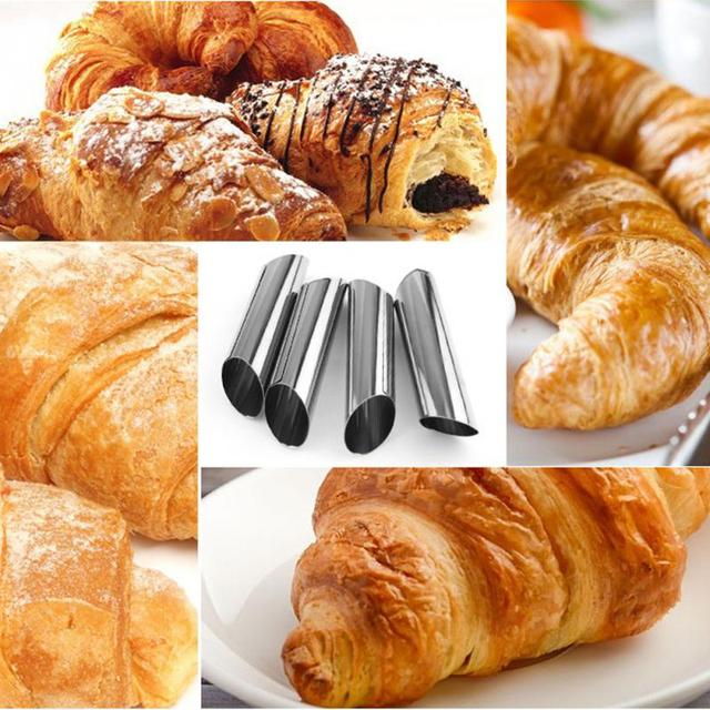 12pcs/set Cannoli Forms Cake Horn Mold Stainless Steel Cannoli Tubes shells Cream Horn Mould Pastry Baking Mold