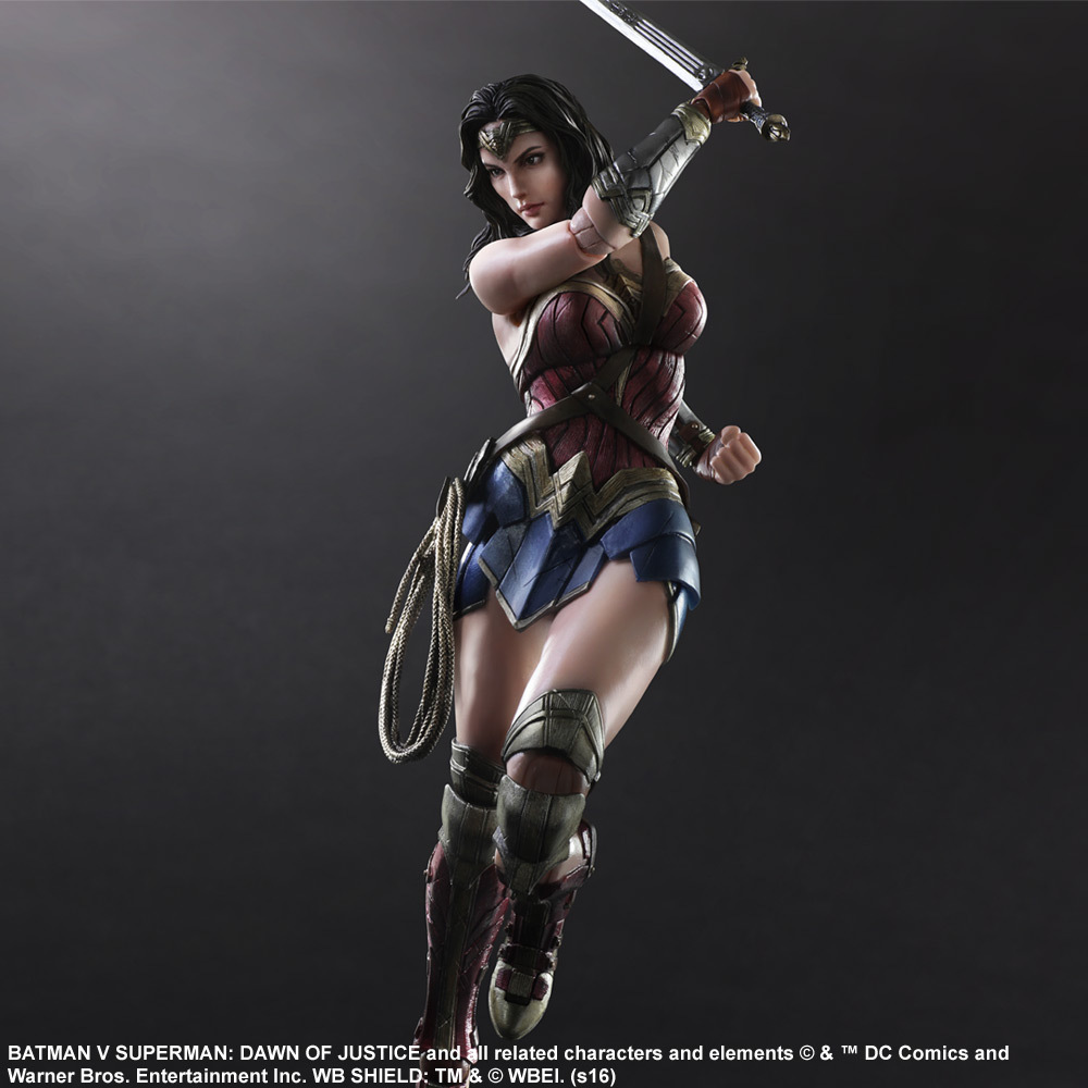Tobyfancy Play Arts Kai Batman v Superman: Dawn of Justice Wonder Woman PVC Figure PA Kai Collection Model Toy