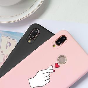 Image 2 - Różowa miękka TPU Fundas pokrywa dla Huawei Mate 20 10 Honor 8X 7X 7A 8 9 10 widok 20 Play P30 P10 P20 Pro Lite 2017 P Smart 2019 Case