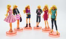Toys For Kids Anime Cute Cartoon Princess Dolls  Action Figures Plastic Dolls 6Pcs Models