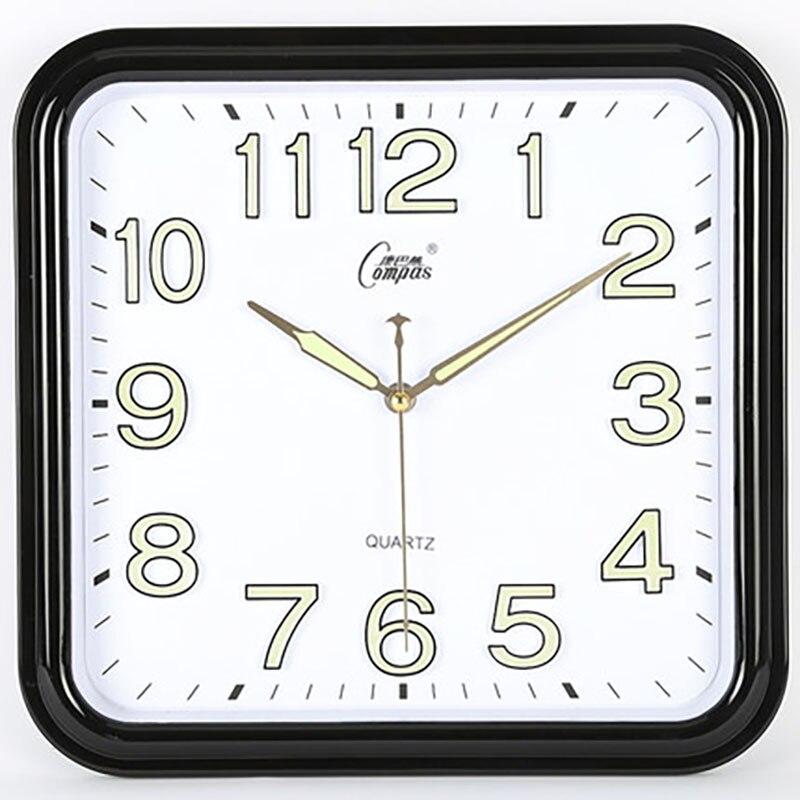 Quartz Mute Square Wall Clocks Creative With Glass Simple Designer Wall Clock Modern Zegar Wall Hanging Clock Living Room 5b79