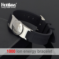 Hottime Brand Design Fashion Health Energy Bracelet Bangle Men 316L Stainless Steel Bio Magnetic Bracelets Laser