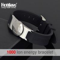 Hottime Brand Design Fashion Health Energy Bracelet Bangle Men 316L Stainless Steel Bio Magnetic Bracelets Laser