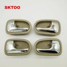 SKTOO 4PCS/set Door Handle Beige Left Right inside For Mazda 323 1995-2003 Inside
