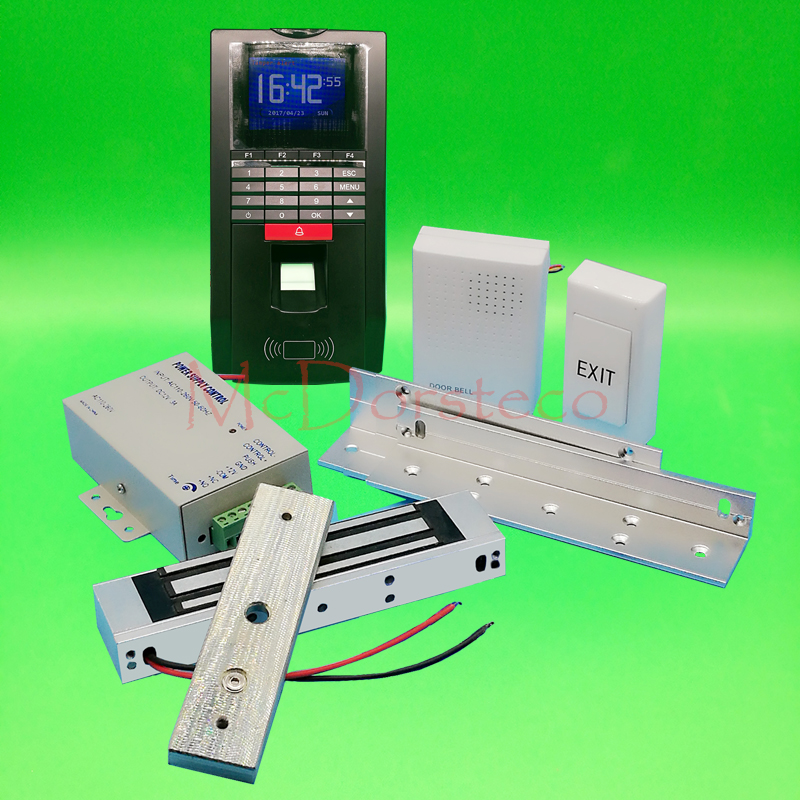DIY Full Door Access Control System Kit Fingerprint Access Controller with 180KG Magnetic Lock door Access Control Lock System