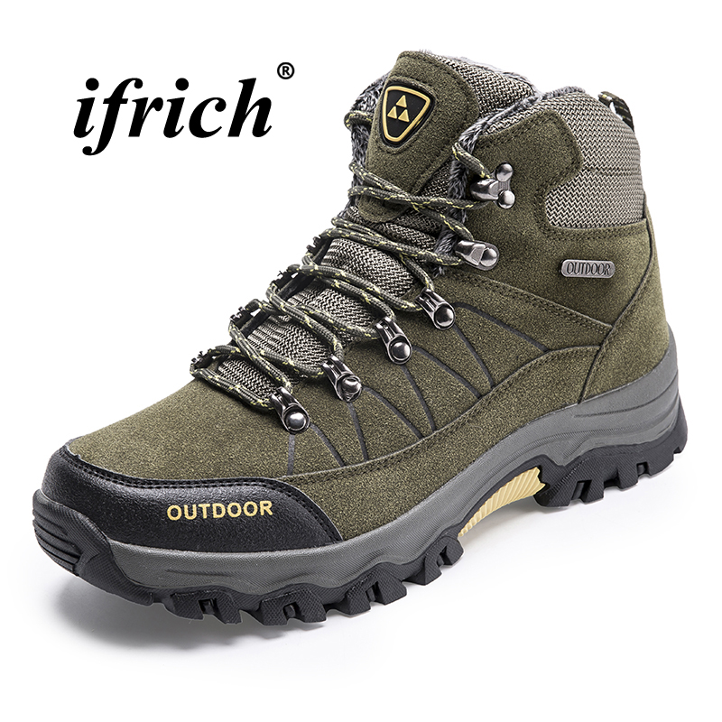 Man Hiking Shoes Plus Size 39-46 Climbing Boots for Men Black Army Green Tactical Sneakers Male Autumn Winter Mountain Boots 2018 climbing boots for men brown man hiking shoes rubber bottom tactical boots male anti slip lace up man mountain shoes