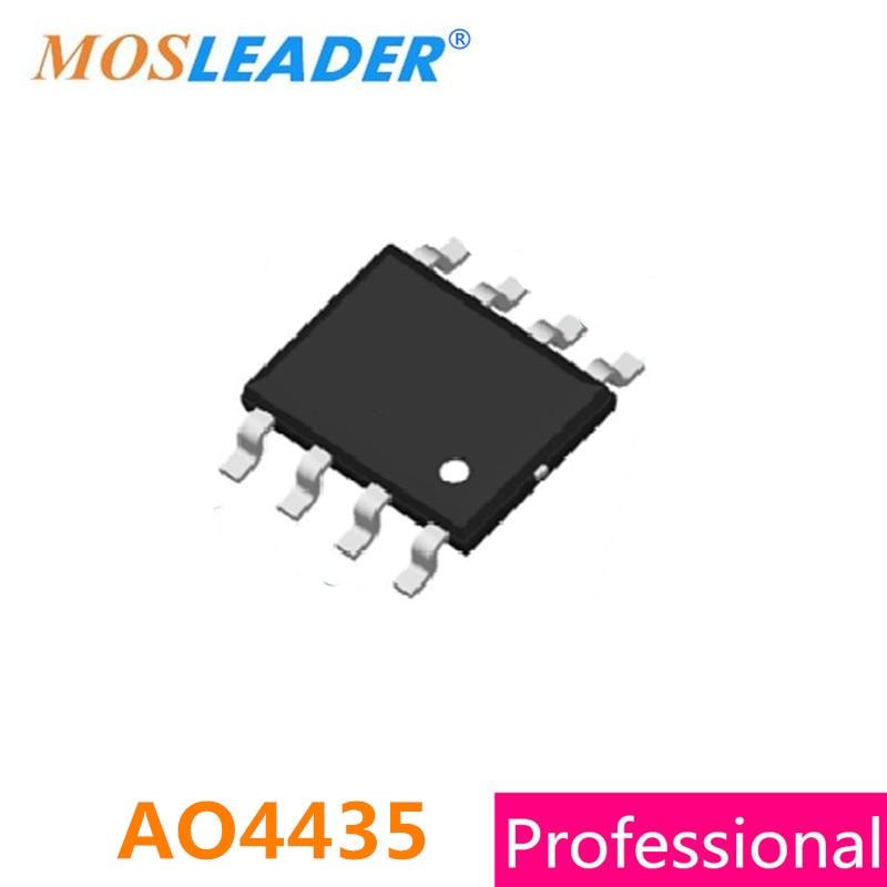 Mosleader AO4435 SOP8 200PCS 1000PCS 2500PCS 30V 10A P-Channel 4435 Mosfets High quality ao4435 4435 sop8