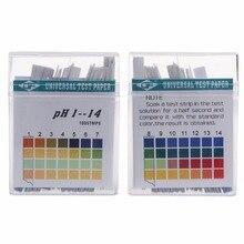 100 Strips 1-14 PH Test Strip Alkaline Acid Indicator Paper Universal Lab Test Paper For Liquid Soil Aquariums Measuring Mayitr mayitr 100