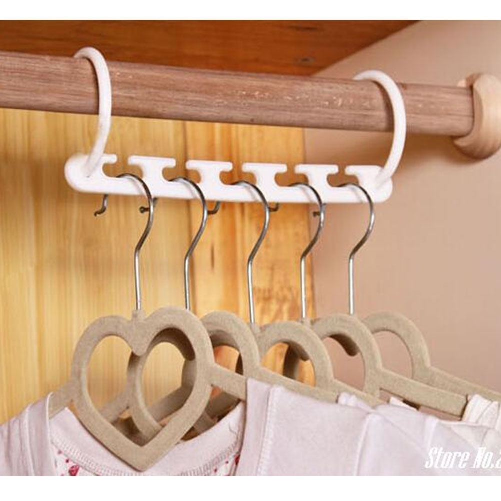 Hoomall 1PC Storage Holder Creative Clothes Hanger Easy Hook Wardrobe Space Save White Multifunctional Clothes Hanger Organizer