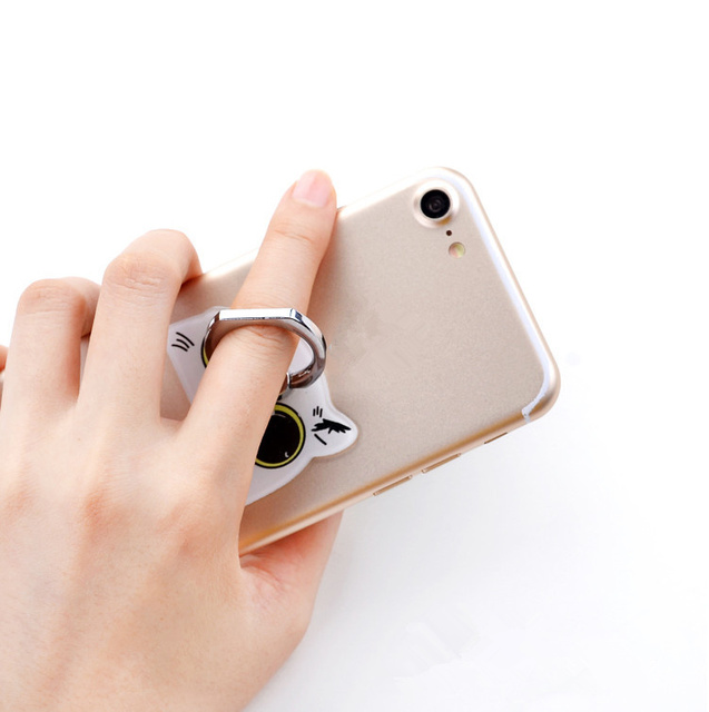 New 1 Piece Cute Cartoon cute mobile phone holder Stand Rings High Quality Metal Phone Finger Ring 3