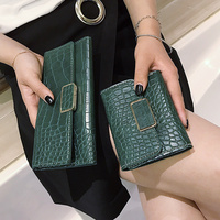 2017 Fashion Pu Leather Wallet Women Purse ID Card Holder Vintage Wallet Women Luxury Brand Women
