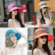 2018 New Women Summer Sun Hats For Girls UV Protection Visor Hat With Big Heads Fashion Femmale Outdoor