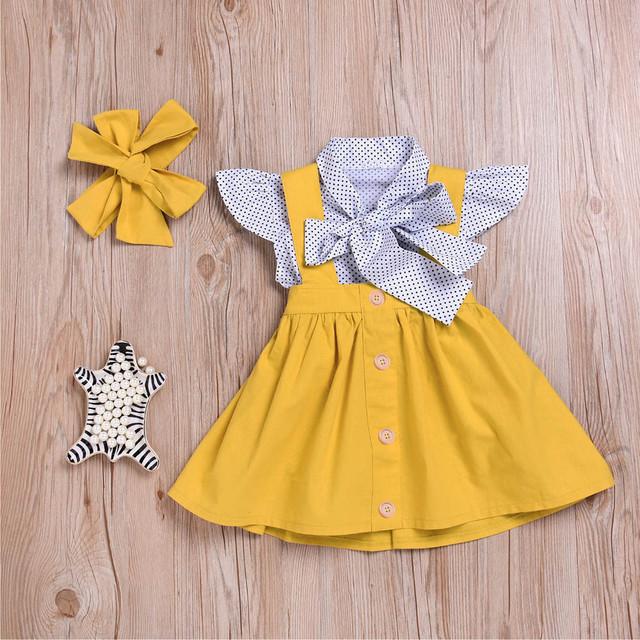 Girl's Polka Dot Pattern Clothing Set
