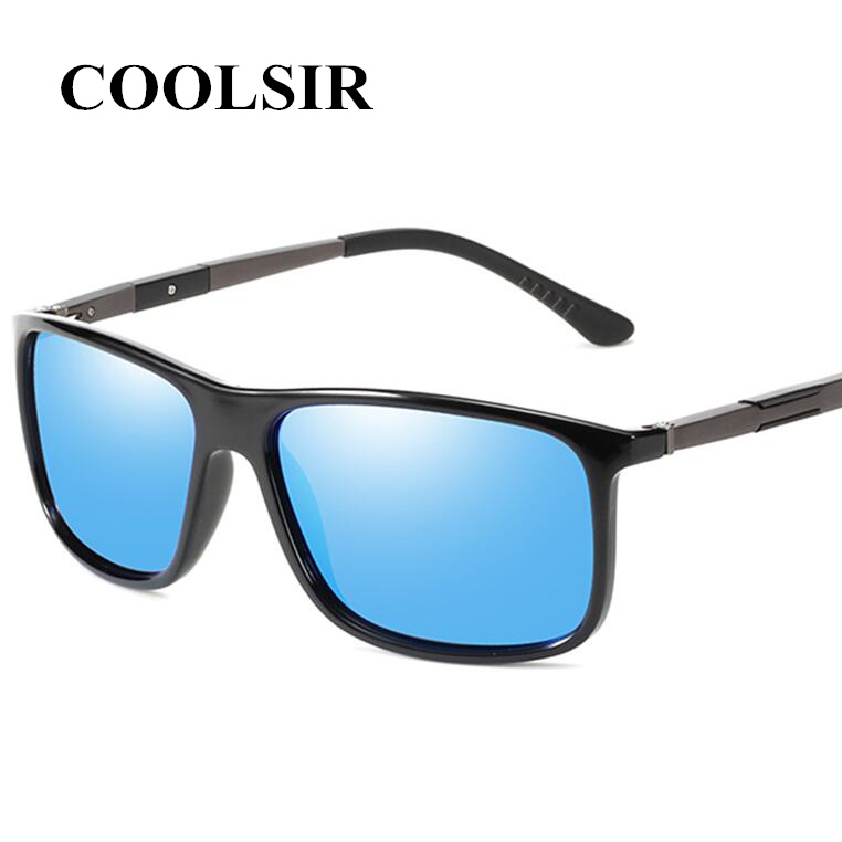 COOLSIR Brand Design HD Polarized Sunglasses For Men Square Driving Anti Glare Sun Glasses Male Vintage Eyewear Gafas De Sol
