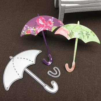 Matryce do cięcia metalu zbudować parasol Cut DIY Scrapbooking papieru rzemiosła tłoczenie nóż formy ostrze dziurkacz Die Cut szablony tanie i dobre opinie Nieregularne Rysunek 80*36mm