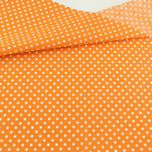 Ensemble Patchwork de tissu en coton imprimé à pois blancs, Orange, ensemble Patchwork de décoration Textile de maison, vêtements de couture, Scrapbooking, de poupée DTY CM