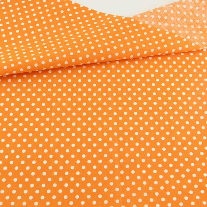 Wzory w białe kropki pomarańczowe drukowane tkaniny bawełniane Patchwork zestaw tekstylia domowe dekoracje odzież szycie Scrapbooking lalki DTY CM