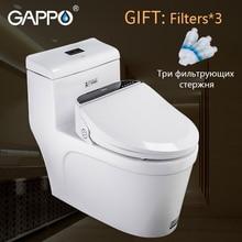 все цены на GAPPO Smart toilet bidet Electric Bidet cover seat toilet seat heat sit led light integrated children chair intelligent онлайн